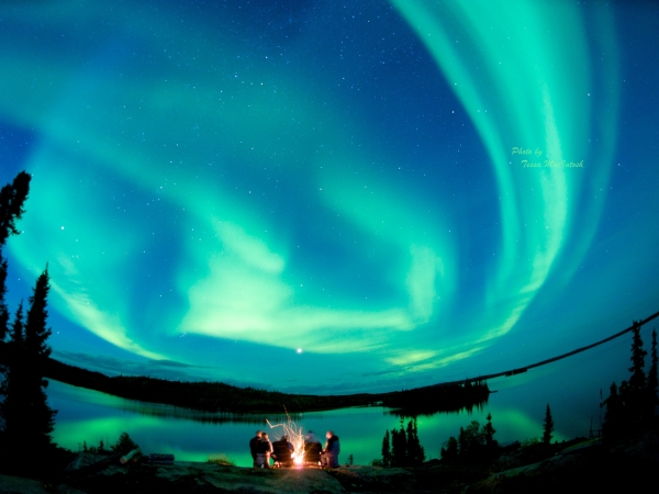Northern Lights At The Blachford Lake Lodge, Yellowknife